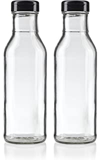 a09202995676 Amazon.com: 8 oz Clear Glass Thick Wall Salad Dressing Bottle (2 ...