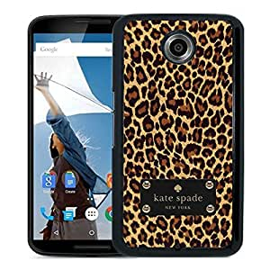 Beautiful DIY Designed Kate Spade Cover Case For Google Nexus 6 Black Phone Case 60