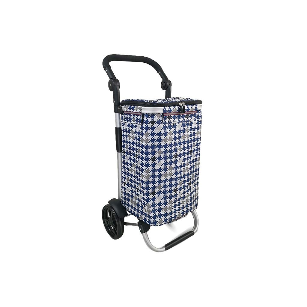 Lxrzls Old People Shopping Trolley - Household Portable Small Cart - Foldable Luggage Grocery Cart - Multi-Functional - Two Rounds