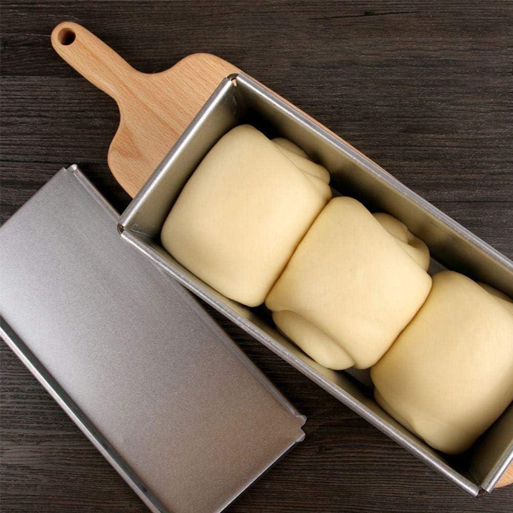 Placa de aluminio rectangular antiadherente Pan Pan Pastel Esta/ño con tapa Moldes para tostadas