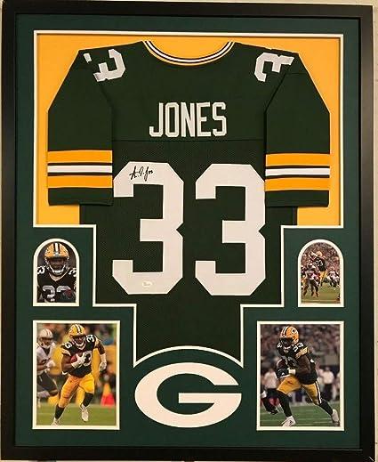 best website f303b b8e8a Framed Aaron Jones Autographed Signed GreeNBAy Packers ...