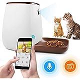 自動給餌器カメラ付き 犬猫用 ペットフィーダ 自動 餌やり 猫 3.3L大容量 一日12回給餌可能 60秒給餌用録音 タイマー設定 スマホ遠隔操作 みまもり ペットカメラ 夜間暗視可 1080P スマートペットフィーダ 留守番対策 自動 えさやり 健康管理 日本語取説書 iOS/Android対応 1年間保証