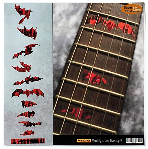 Fret Markers for Guitar & Bass Inlay Sticker Decals - Vampire Bloody Bat]()