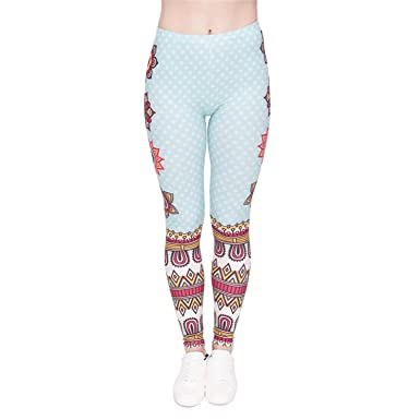 Amazon.com: Mainstream Leggings para mujer con estampado de ...