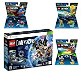 Lego Dimensions DC Comics Super Heroes Starter Pack + Superman + Batman + Aquaman Fun Packs for Xbox 360 Console