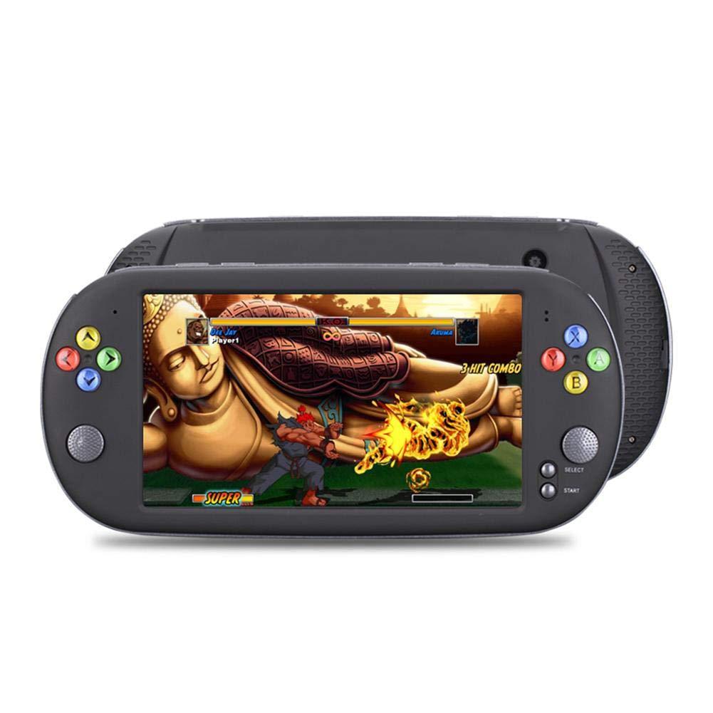 Domybest Console de Jeu Rétro 7 Pouces Console de Jeu Vidéo Classique de Poche Portable 8 Go pour Neogeo Arcade