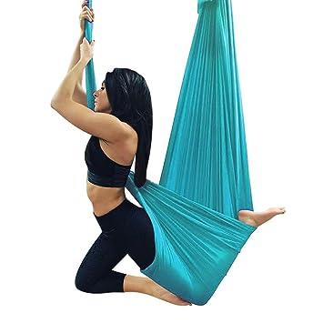 Amazon.com: XIAOLI& Aerial Yoga Hammock Sports Fitness Yoga ...
