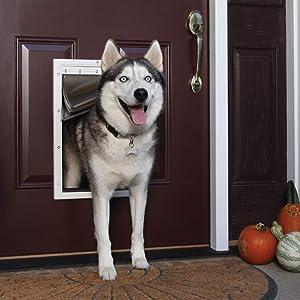 PetSafe Extreme Weather Dog and Cat Door - Aluminum or Plastic Pet Door - Small, Medium, Large and X-Large