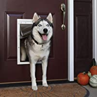 PetSafe Extreme Weather Energy Efficient Pet Door, Unique 3 Flap System, White, for Dogs and…