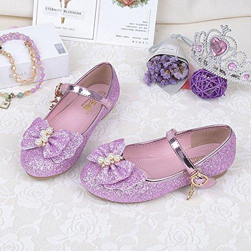 Cool&D Mädchen Sandalen Frozen Schuhe Prinzessin Sandalen Oxford Sohlen Sandalette mit Glitzerpailletten Rosa