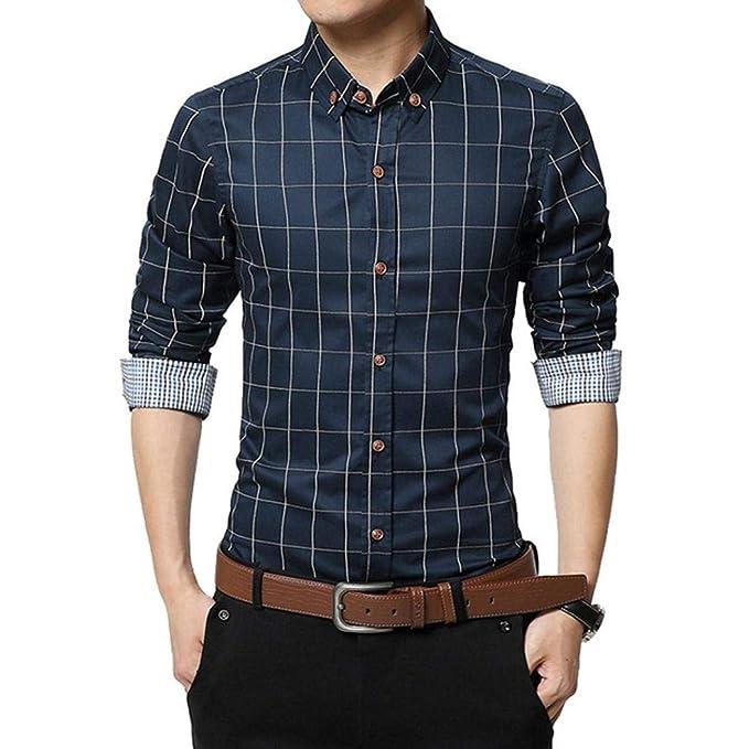 fc285e2c4af8d Camisas Casual Hombre Manga Larga