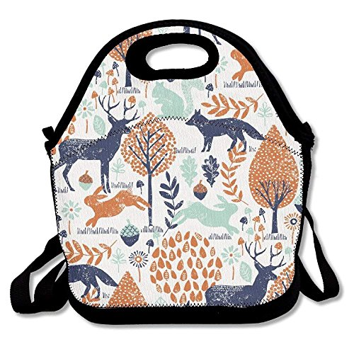 (Elk Rabbit Pine Nut Tree Lunch Bags Lunch Tote Lunch Box Handbag For Kids And Adults)