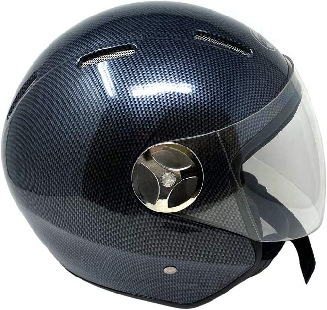M, Matte Black Motorcycle Scooter Open Face Helmet PILOT Flip Up Visor DOT