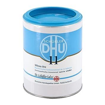 Bioquímica Dhu 11 Silicea D 12 comprimidos 1000 unidades ...