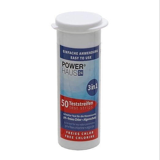2 opinioni per Powerhaus 24- 50strisce per Test per cloro/pH/alghe, incl. indicazioni d'uso