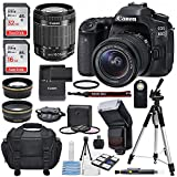 Canon EOS 80D DSLR Camera with EF-S 18-55mm f/3.5-5.6 IS STM Lens, Universal Automatic Flash, and Total of 48GB SDHC along with Deluxe accessory bundle