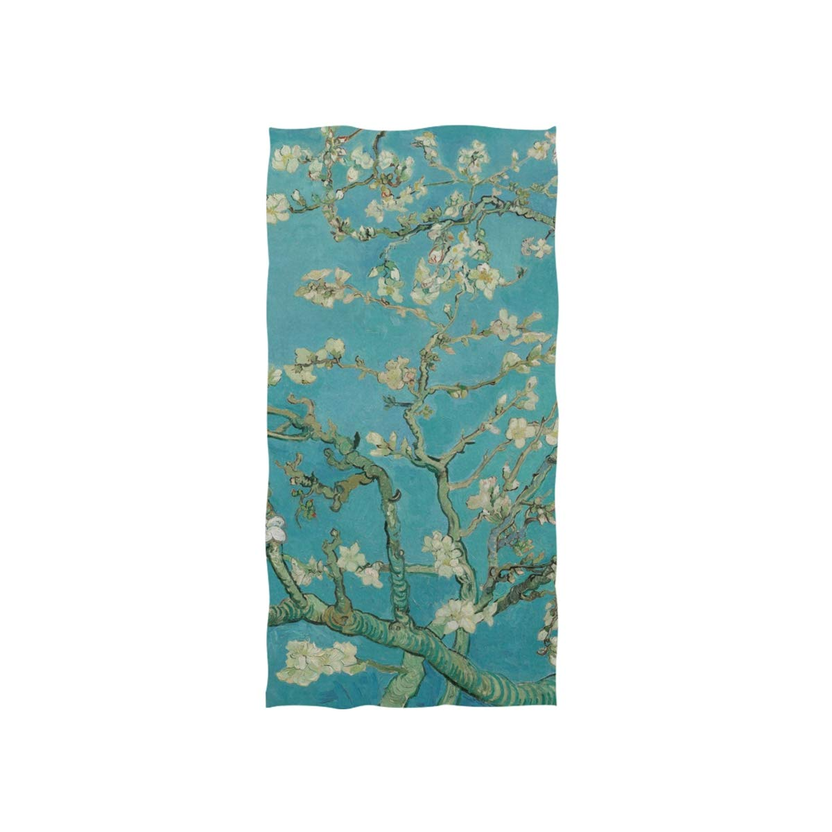 Le Visage la Main Van Gogh Branches damandier en Fleur Serviettes Multifonction Extra absorbantes pour Le Bain la Salle de Gym et Le Spa Ahomy Serviettes de Toilette 38 cm x 76 cm