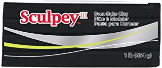 product image for Sculpey III Polymer Clay, 1-Pound, Black, 1/pkg
