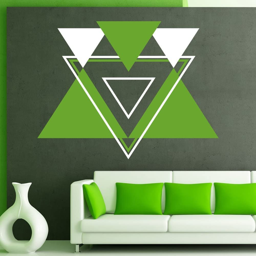 Amazon Com Impressivedecalart Abstract Geometric Shapes Wall Decals Triangles Vinyl Stickers Lines Pattern Interior Art Ideas Design Home Decor Mural Removable Bedroom Window Ar238 Home Kitchen