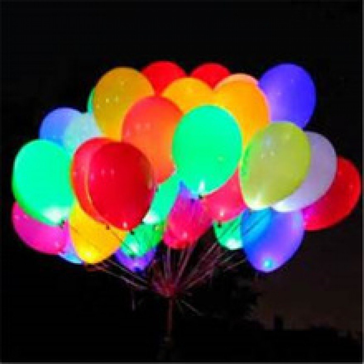 Glow in the dark water balloons - Amazon Com Led Light Up Balloons Pack Of 15 Mixed Color Party Pack Balloons Toys Games