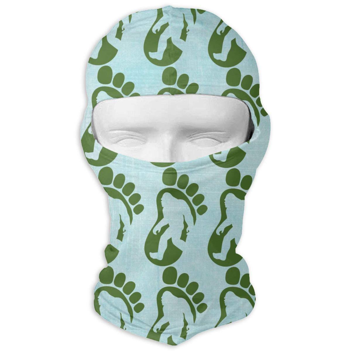 deyhfef Bigfoot Footprint Balaclava UV Protection Windproof Ski Face Masks for Cycling Outdoor Sports Full Face Mask Breathable