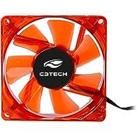 Cooler Fan C3Tech F7-L50RD Storm 8cm - Com Iluminação Led Vermelho Rolamento FDB 12v 2200RPM