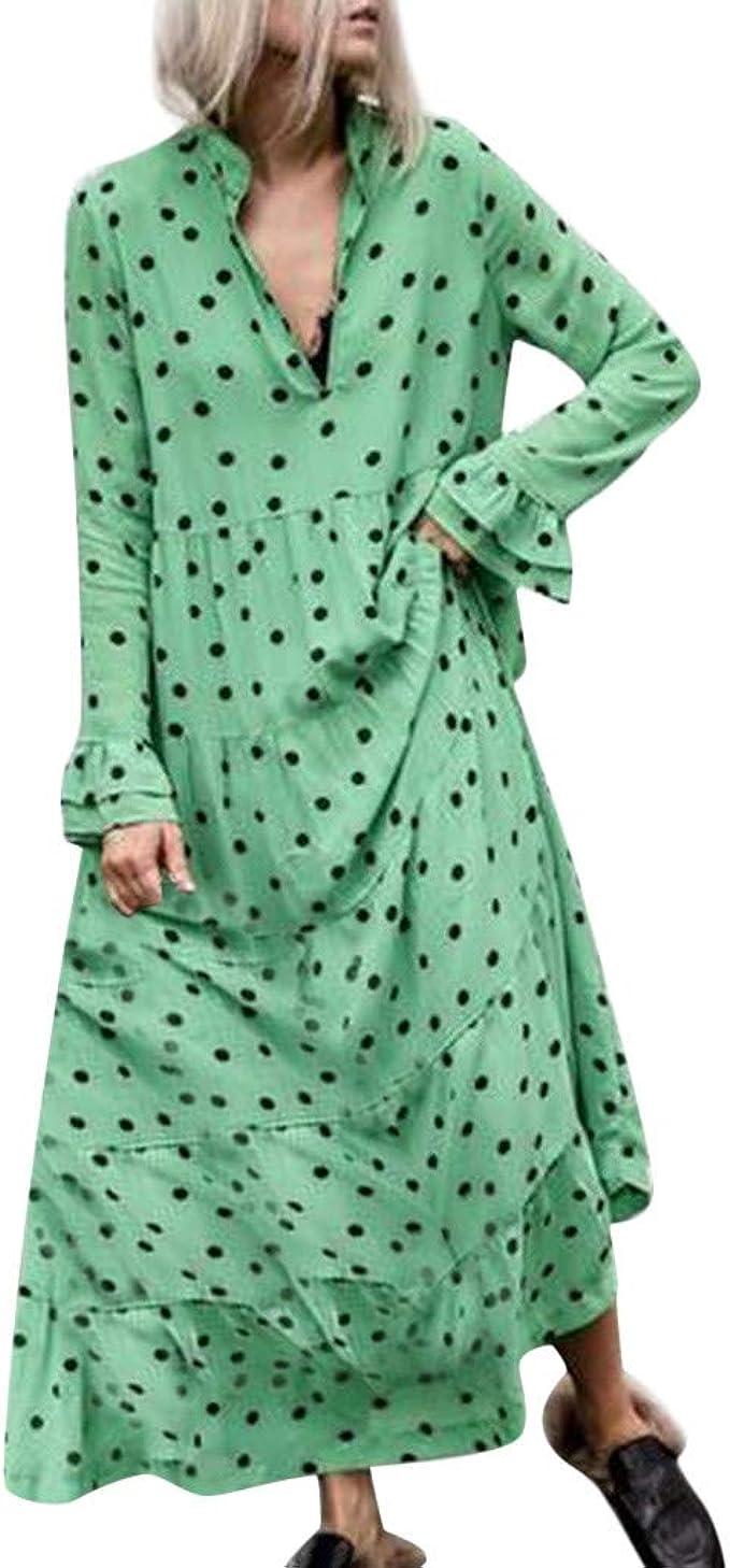 Freizeitkleider Damen Langes Kleider Große Größen,Frau Beiläufig