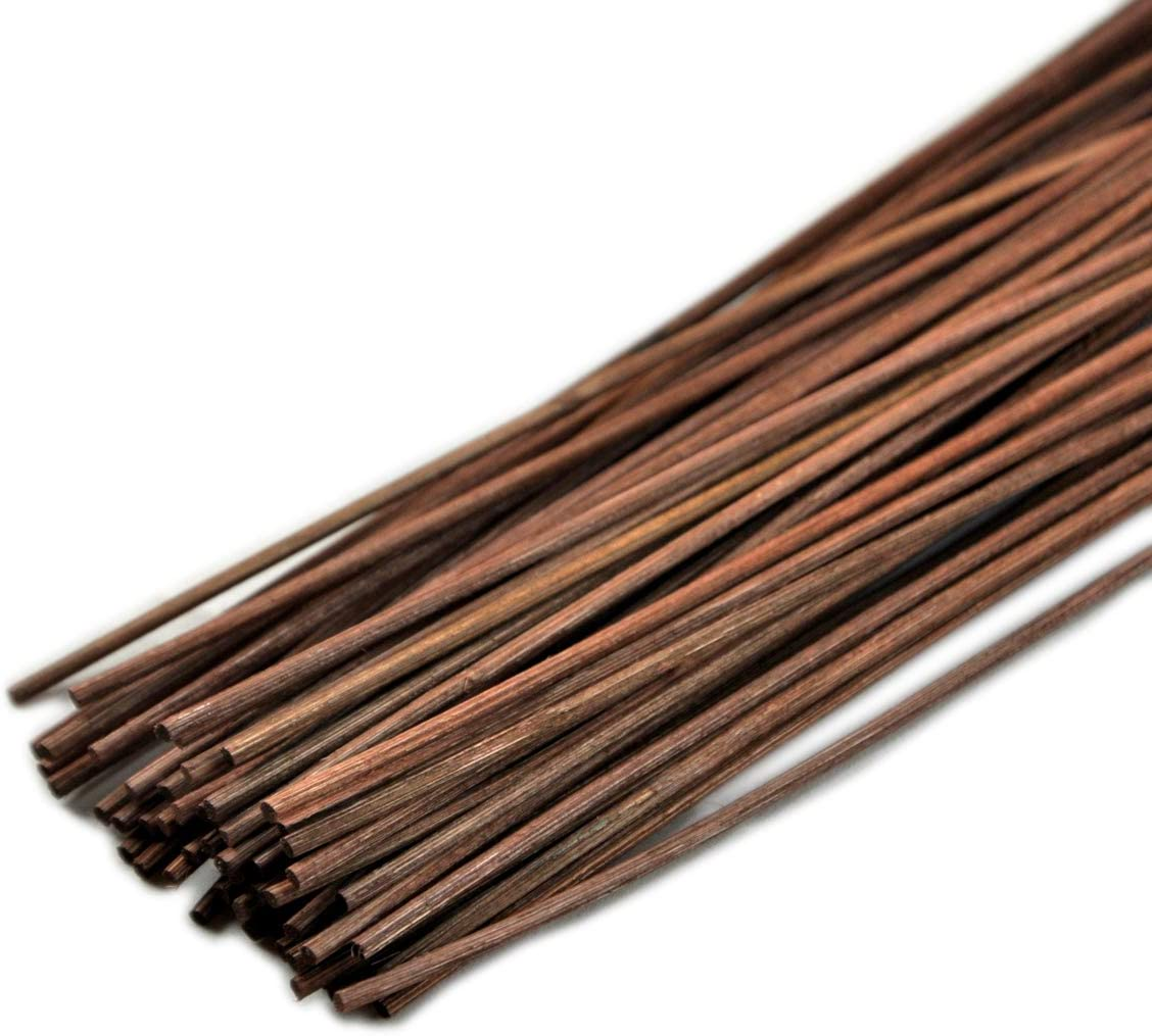 10 inch, Black Simoutal Reed Diffuser Sticks 50pcs Wood Rattan Reed Sticks Replacement Refill Sticks Essential Oil Aroma Diffuser Sticks