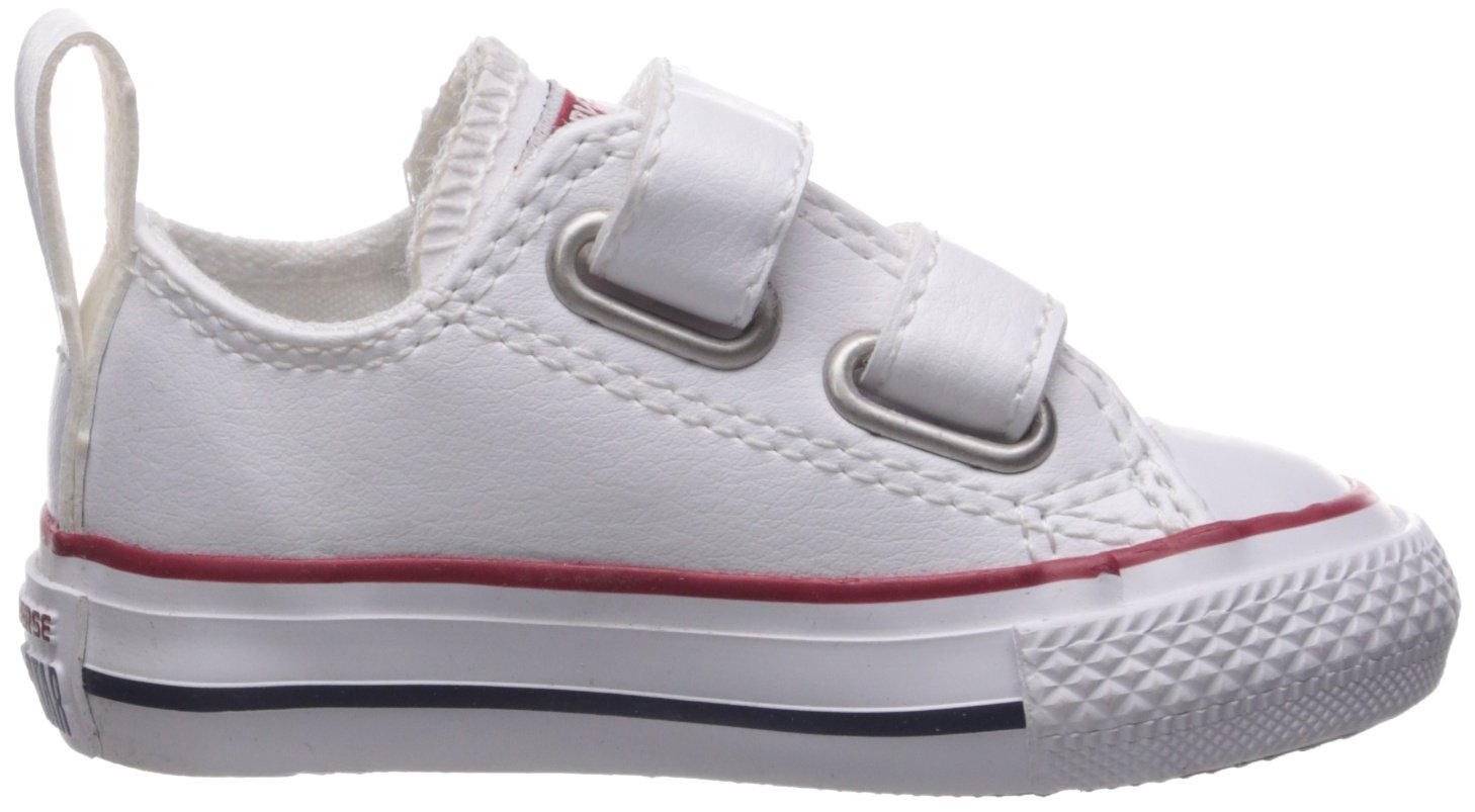 Converse Girl's Chuck Taylor All Star 2V Leather Low Top Shoe, White, 4 M US Toddler by Converse (Image #7)
