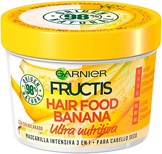 Garnier Fructis Hair Food Acondicionador Nutritivo de Banana para Pelo Seco - Pack de 3 x 350 ml: Amazon.es: Belleza