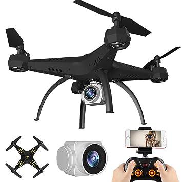 RC Mini Drone, Helicóptero RC Quadcopter [0.3MP WiFi FPV Drone ...