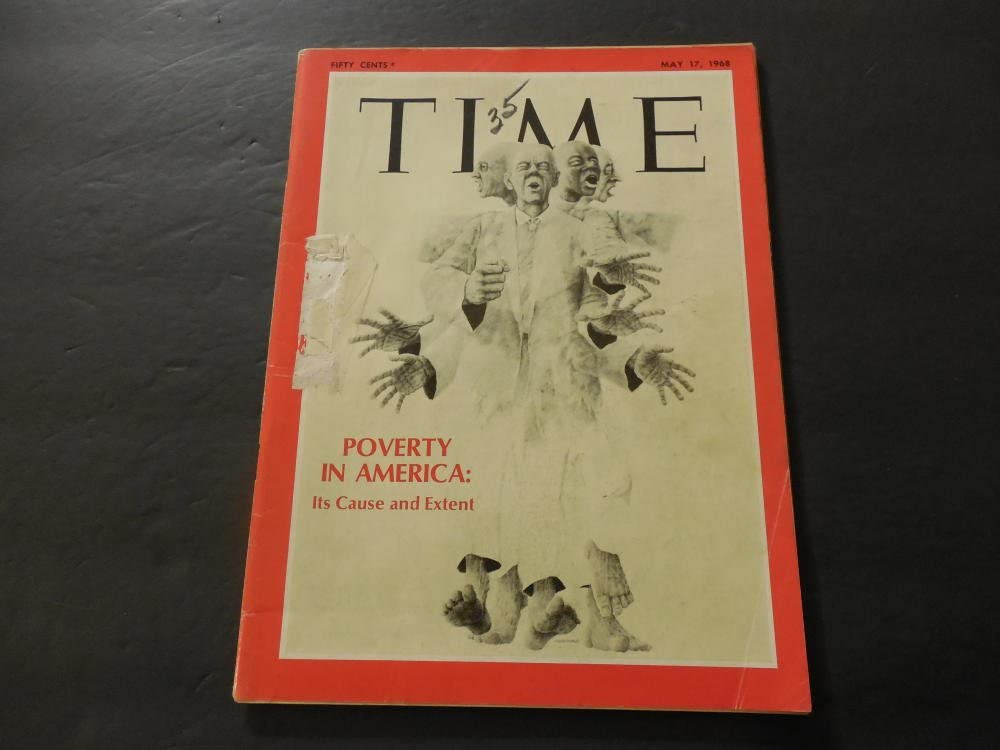 Time May 17 1968 Poverty In America Then Not Now Vietnam War At Amazon S Entertainment Collectibles Store
