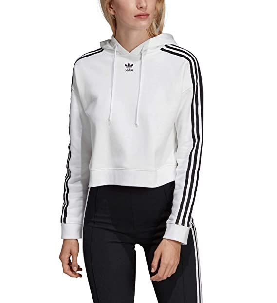 adidas Originals Cropped Pullover Hoody at Amazon Women's ...