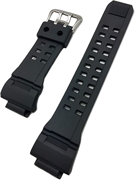 THE NIGHTHAWK | 16mm Black, G Shock Style, Rubber Polyurethane (PU) Material Watch Band | Tough, Comfortable, Durable Replacement Wrist Strap that brings New Life to Any Watch (for Men and Women)