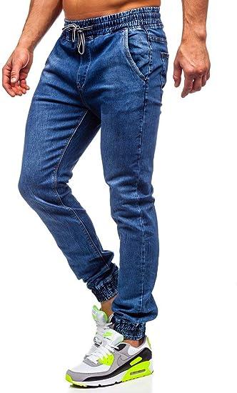 BOLF Herren Jeans Jogger Denim Style Sweathose Jogg Jeans