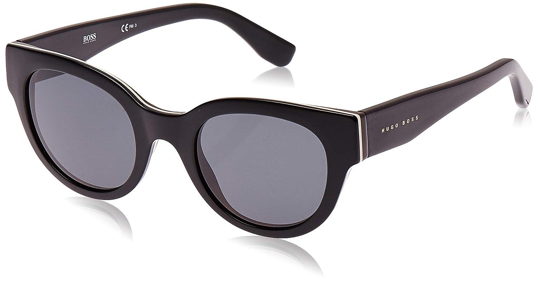 Hugo Boss Boss 0888/S IR 0T8 Gafas de sol, Negro (Bkivryhvn Bk/Grey Blue), 49 Unisex-Adulto