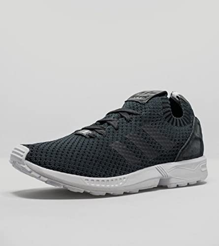 Mens ADIDAS ZX FLUX WEAVE Grey Textile Trainers B23600
