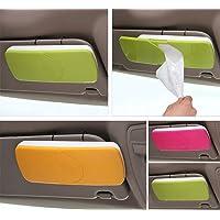 Lukzer 1 PC Car Tissue Paper Holder Box Sun Visor Napkin Dispenser/Organiser Head Rest (Random Color)