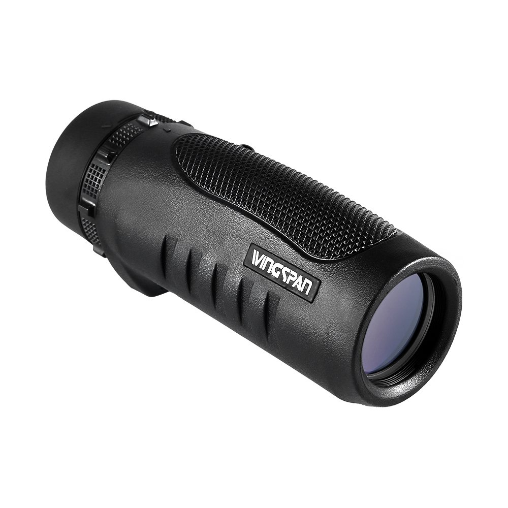 Wingspan Optics Scout 6X32 Compact Wide View Monocular with Carry Clip. Lightweight, Waterproof and All-Climate Durable. Perfect for Nature Lovers, Hikers and Bird Watchers on the Go