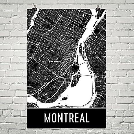 Montreal poster montreal art print montreal wall art montreal map montreal city