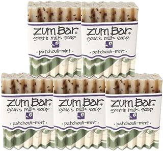 product image for Indigo Wild Zum Bar Goat's Milk Soap, Patchouli Mint - 5 Pack