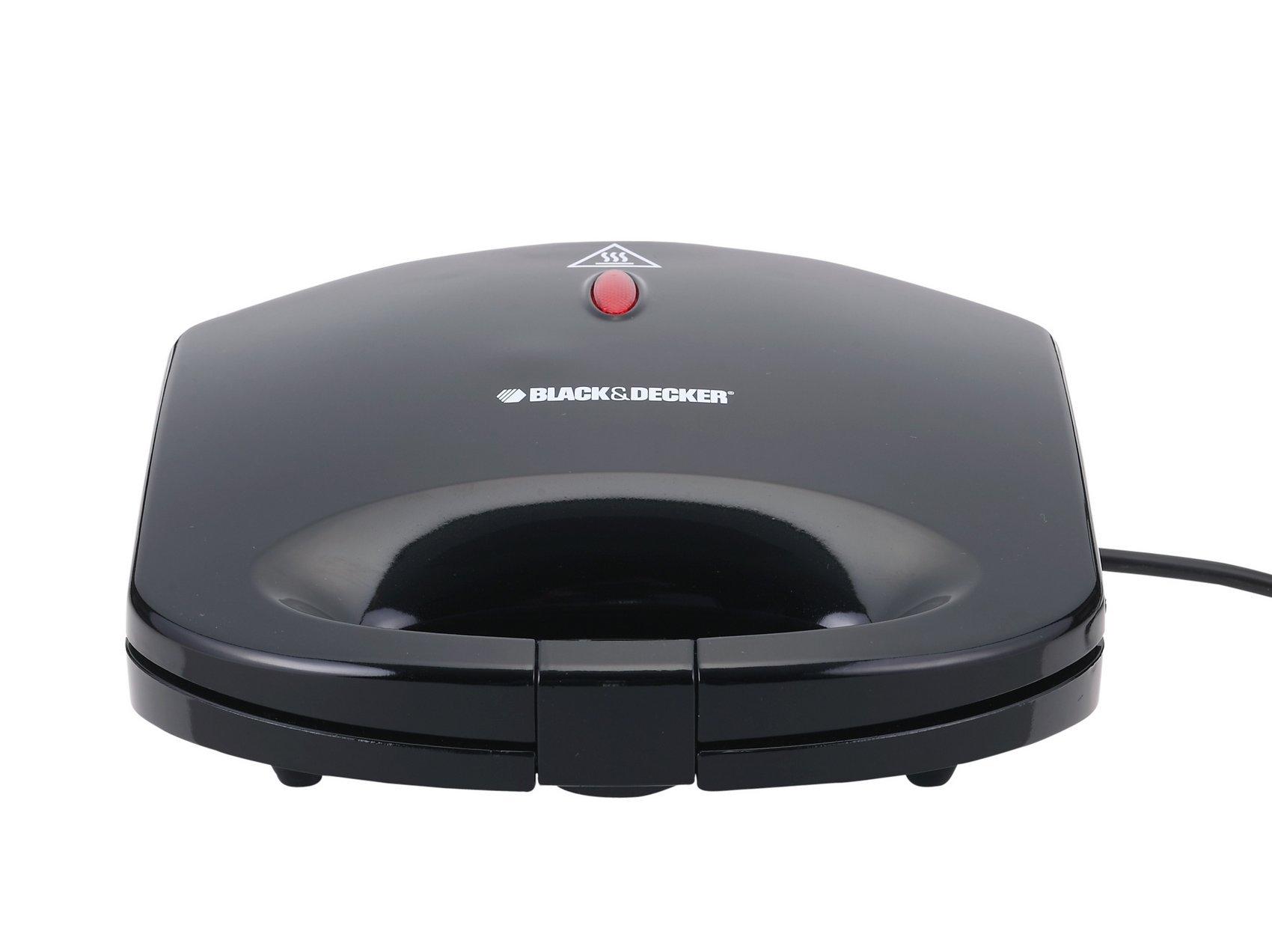 BLACK & DECKER TS 1000 220V Sandwich Maker 600W 220-240V (Not for USA), Black by BLACK+DECKER (Image #3)