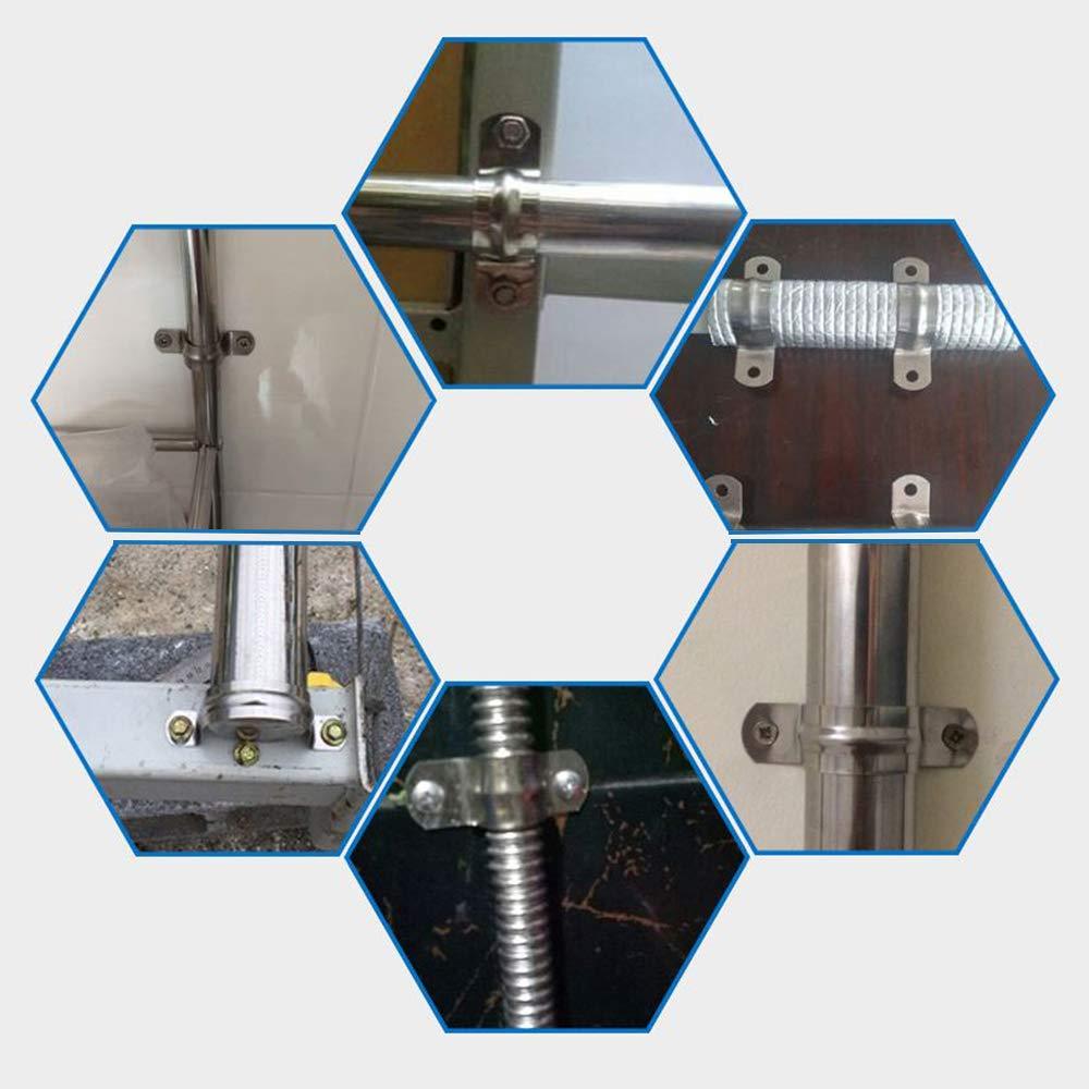 16 mm 304 Abrazadera de tubo Alicates acero inoxidable abrazadera de tubo T de tipo abrazadera de tubo de acoplamiento del aro 20pcs Wholesale