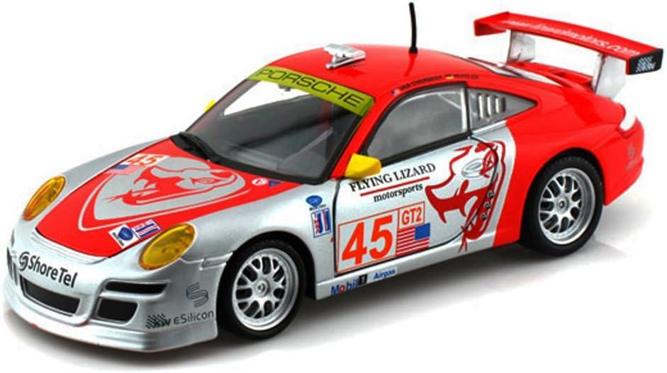 Amazon Com Porsche 911 Gt3 Rsr Race Car 45 Silver Orange Bburago 28002 1 24 Scale Diecast Model Toy Car Home Kitchen