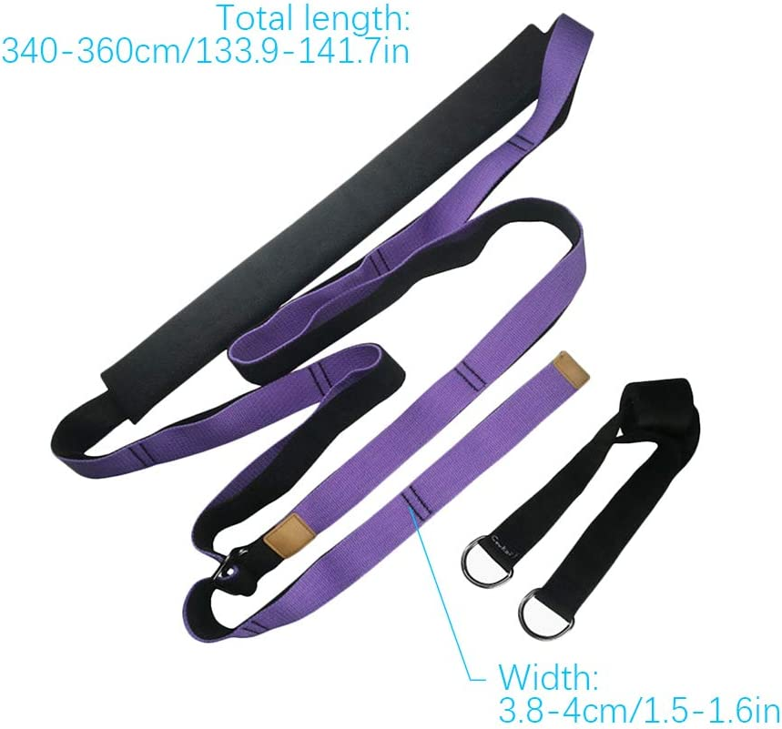 Flexible Multi-Purpose Leg Stretcher Band On Door Fitness Resistance Bands with Door Anchor for Leg Waist Back Bend Assist Trainer GFEU Yoga Door Strap