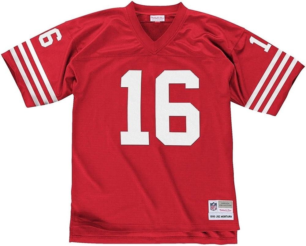 Mitchell /& Ness Joe Montana San Francisco 49ers Throwback NFL Trikot Rot