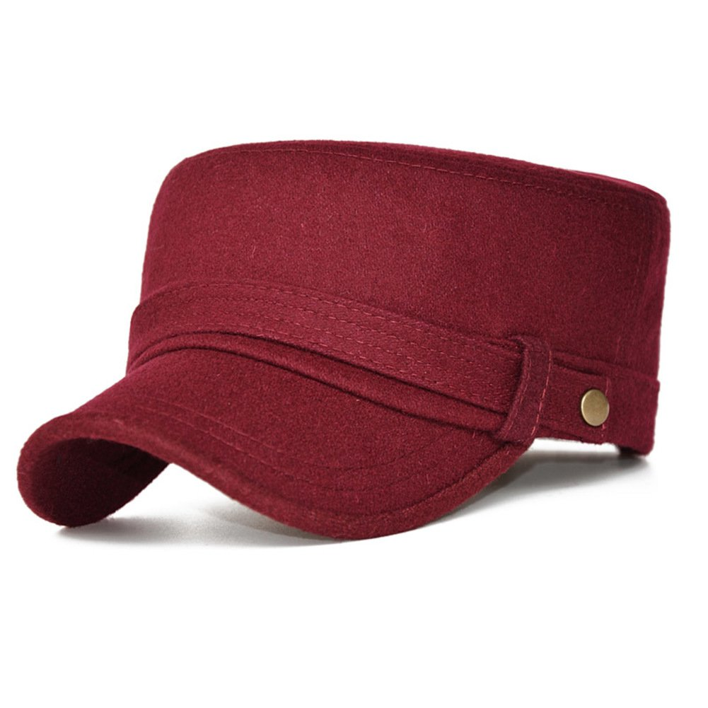 PLMWQAVDFN Hat Cap Furry Flat-Topped Cap Warm Casual Hats
