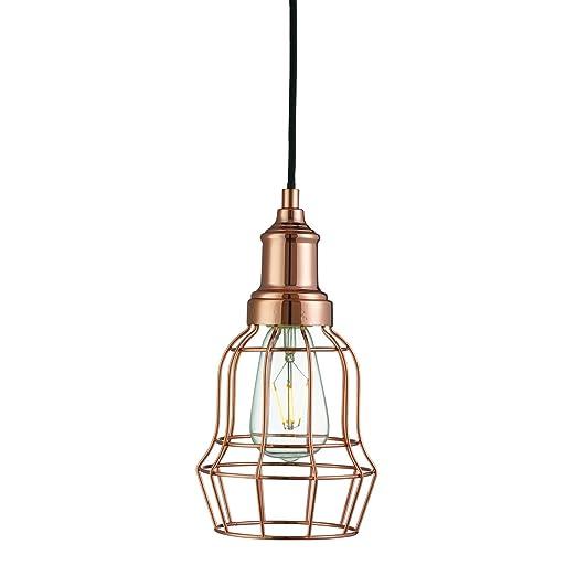 Searchlight Bell único jaula de metal lámpara de techo (6847cu ...