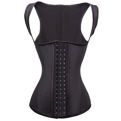 77d1d1f54ad78 FeelinGirl Women s Underbust Waist Training Corset Vest Workout Waist  Cincher