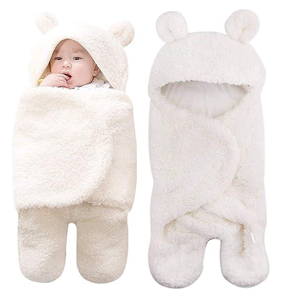 Amazon.com: Kingrol - Manta ajustable para bebé, de felpa ...
